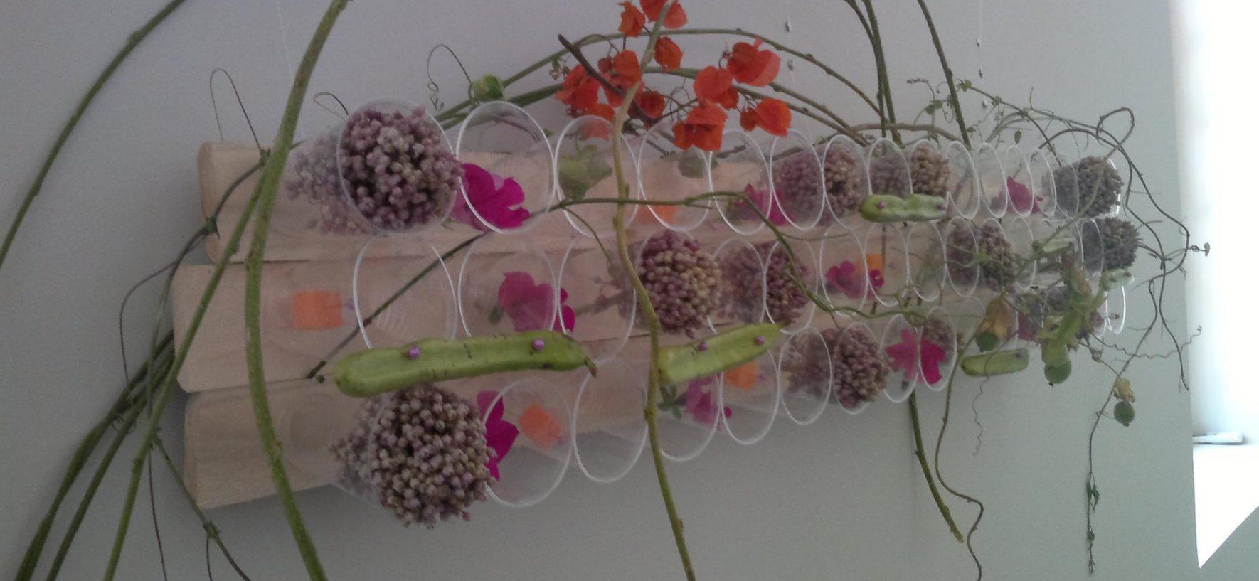 Trabajos experimentales en arte floral